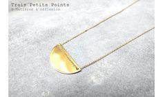 Trois Petits Points collier Moon doré #troispetitspoints #necklace #moon #goldplated