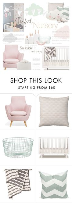 """""""Create A Nursery Contest! Enter!"""" by kearalachelle ❤ liked on Polyvore featuring interior, interiors, interior design, home, home decor, interior decorating, Bloomingville, CB2, Oeuf and Barefoot Dreams"""