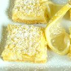 I'm re-pinning this, because the one floating around does not have a link, and it took a while to find this recipe. Just made the lemon bars, and they were EASY and delicious! I added lemon zest to the cream cheese - and I think it made them better!
