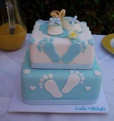 a footprint cake for a tarheel baby shower or you can change the feet into camo feet!! (: