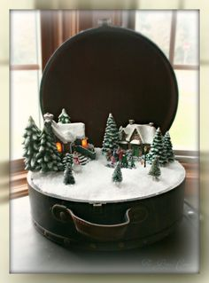 Christmas Living Room vignettes, I finished some of the Christmas/Winter vignettes for my living room. Ill add pictures of the entire room s...