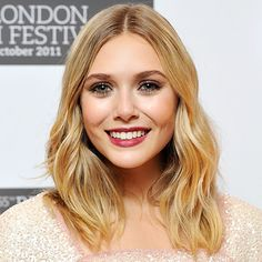Elizabeth Olsen and her effortless waves via InStyle.com
