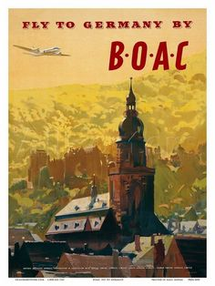 Vintage BOAC Travel Posters, Art by Frank Wootton (1911-1988). http://www.britishairways.com/en-gb/information/about-ba/history-and-heritage/posters/posters-1950-1959