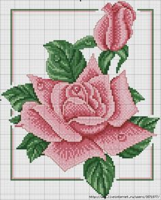 This Pin was discovered by Ser Beading Patterns, Embroidery Patterns, Cross Stitch Patterns, Cross Stitch Rose, Cross Stitch Flowers, Ribbon Embroidery, Cross Stitch Embroidery, Plastic Canvas Patterns, Cross Stitch Designs