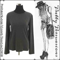 """Emporio Armani Soft Gray Long Sleeve Top MSRP $495.00  Emporio Armani Soft Gray Long Sleeve Top  Size: Small Measurements taken in inches:  Length: 24.5"""" Bust: 37"""" Waist: 37"""" Hips: 37"""" Sleeves: 19""""  Features:  - úber soft material  - gray - zipper detail at neckline   Thank you. XoXo ❤️••• Emporio Armani Tops"""