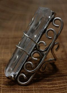 Crystal Quartz Point Wire Wrap Ring Boho Statement Antique Silver by crystalelements1 on Etsy https://www.etsy.com/listing/240100221/crystal-quartz-point-wire-wrap-ring-boho