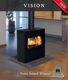Supreme Foyers - Foyer Vision, double sided wood burning stove, freestanding stove