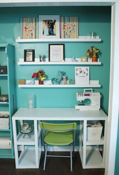 Aqua office -- perhaps with paint a shade lighter