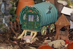 Miniature fairy gypsy caravan.