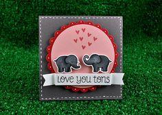 Stempelwunderwelt Onlineshop für Motivstempel, Scrapbooking, Bastelzubehör-Love you Tons Clearstamp-Set von Lawn Fawn