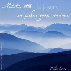 Muista, että hiljaisuus on joskus paras vastaus. Paparazzi Jewelry Images, Paparazzi Accessories, Lao Tzu Quotes, 31 Day Challenge, Tao Te Ching, Growth Quotes, Facebook Party, Dark Places, Dalai Lama