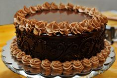 Chcolate Ganache Cake Filled with Chocolate Butter Cream