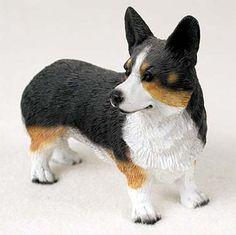 Welsh Corgi Cardigan Hand Painted Collectible Dog Figurine Statue
