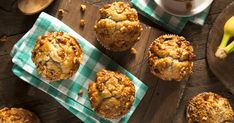 Banana nut muffins make for a great morning. This recipe is so simple to make that you can do it in the morning while you're getting ready. You'll have warm muffins to enjoy on your way to work then. Mini Desserts, No Bake Desserts, Banana Nut Muffins, Banana Nut Bread, Breakfast Muffins, Breakfast Recipes, Breakfast Ideas, Apple Cinnamon Rolls, Morning Glory Muffins