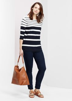 Violeta by Mango | Striped sweater
