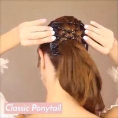 Shop OFF Magic Stretch Hair Comb - Frisuren Mädchen - Cheveux Curly Hair Styles, Natural Hair Styles, Hair Upstyles, Hair Videos, Hair Day, Hair Comb, Hair Designs, Hair Hacks, Braided Hairstyles