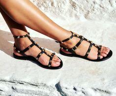 gr🤟RØC₭ your Summer Look, wearing these astonishing studded gladiator sandals! 🏷️ON SALE / more on bio link Birkenstock Mayari, Summer Essentials, Spring Summer 2018, Summer Looks, Summer Vibes, Gladiator Sandals, Link, Hot, How To Wear