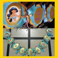 Princess Jasmine Banner Aladdin banner by itsybitsyitsparty, $30.00