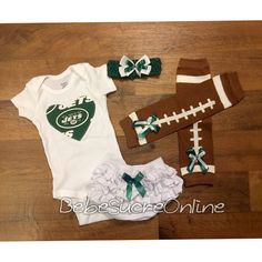 281ac491918 New York Jets Game Day Outfit by BebeSucreOnline on Etsy. Baby ...