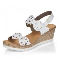 Dámske sandále RIEKER 64675-80 biela S1 | Rieker