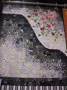 Play for Me  Now this is a quilt my hubby would love! Pianos are his life.