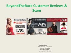 BeyondTheRack is one of the best online shopping portal in shopping industries dedicated to offer up to 80% discount on fashionable accessories and clothes. Read here recent reviews of customers and their feedback. BeyondTheRack is not a fake platform, so there is no scam related to customers shopping or big discount. Beyond The Rack, Portal, Branding Design, Online Shopping, Shop Now, Fashion Accessories, Platform, The Incredibles, Reading