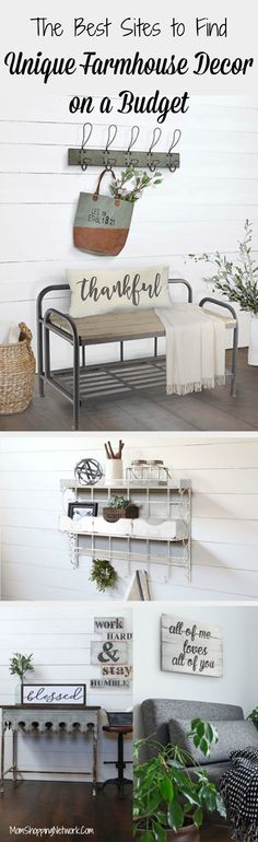 Are you a Fixer Upper fanatic? Do you wish Joanna Gaines would come and decorate your house? Met too, but until then I guess we'll have to do it ourselves! These really are the best sites to find unique farmhouse decor on a budget! Farmhouse Decor   Farmh