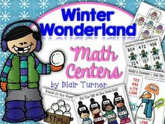 Winter Wonderland Math Centers - Engaging, Common Core aligned centers! $