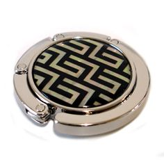Mother of Pearl Purse Hook with Lattice Design