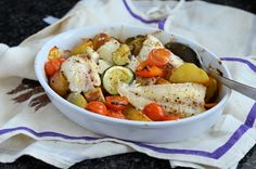 Recipe: Low-Calorie Fish on Friday  Mediterranean Wild Haddock Gratin (270 calories) I know I promised you chicken stew and dumplings, in yesterday's post - Love Food, Hate Waste for Thrifty Thursd...