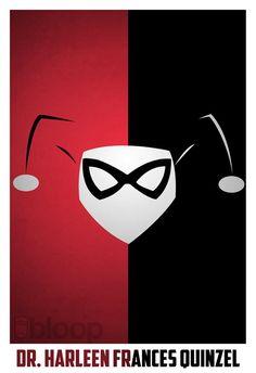 Minimalist Superhero Posters – Harley Quinn