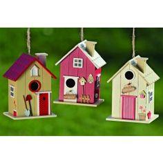 3x Nichoirs en bois Antero Bird Houses Painted, Decorative Bird Houses, Bird Houses Diy, Wood Block Crafts, Wood Projects, Wooden Art, Wooden Crafts, Birdhouse Designs, Diy Bird Feeder