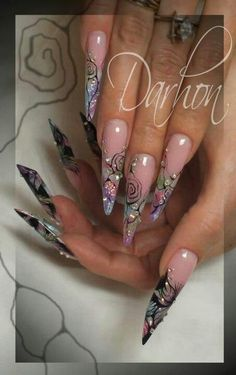 Darhon 3d Flower Nails, Edge Nails, Nails Only, Coffin Shape Nails, Nail Candy, Luxury Nails, Types Of Nails, Beautiful Nail Designs, Stylish Nails