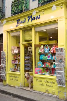 Paris shop. Must be the shopkeeper at the door :)