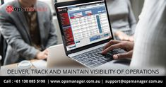 opsmanager - Deliver, Track and Maintain Visibility of Operations. Operations Management, Software, Track, Gaming, Video Games, Runway, Games, Running, Game