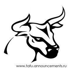 Качественный черно-белый рисунок, изображение быка. Qualitative black and white figure, the image of oxen, bull.