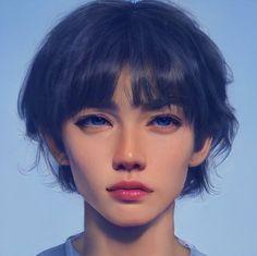Pretty And Cute, Cute Art, Amazing Art, Model, Painting, Girls Girls Girls, Anime Characters, Scale Model