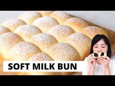 SUPER EMPUK! SOFT MILK BUN! Luvita Ho - YouTube Bread Recipes, Snack Recipes, Snacks, Japanese Milk Bread, Milk Bun, Bun Cake, Mousse Cake, Hot Dog Buns, Pastries