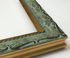 mint and gold ornate picture frame high end luxury frame 3x5 4x6