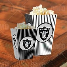 Oakland Raiders Sports Party Popcorn Boxes