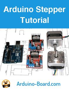 Driving stepper motors with an Arduino and an driver board. Arduino Motor, Arduino Cnc, Arduino Programming, Arduino Board, Cnc Router, Hobby Electronics, Electronics Gadgets, Electronics Projects, Arduino Stepper