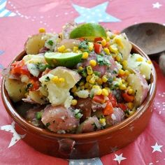 Mexican Potato Salad (I'd leave out the cilantro and add some beans, but yeah.)
