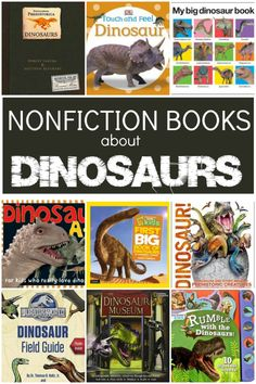 Nonfiction Books About Dinosaurs for Toddlers Preschoolers and School Age Kids Dinosaurs For Toddlers, Dinosaur Books For Kids, Dinosaur Theme Preschool, Books For Boys, Toddler Books, Toddler Preschool, Preschool Activities, Childrens Books, Preschool Kindergarten