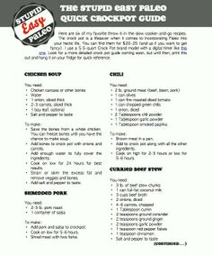 Paleo Crockpot. Perfect for school nights!