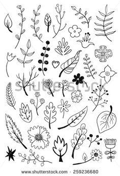 Floral Elements - #DRAW #ZENTANGLE #ZENDALA #TANGLE #DOODLE #BLACKWHITE #BLACKANDWHITE #SCHWARZWEISS