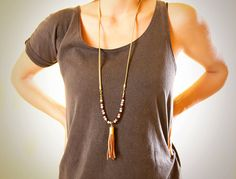 Spring sale 20 off Long green leather tassel by milijewelries, $39.80