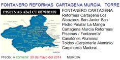 FONTANERO REFORMAS  CARTAGENA MURCIA   TORRE PACHECO LA MANGA SAN JAVIER