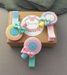 Clips con adorno para niñas, clips rosas con adorno para niñas, clips bonitos para niñas, clips verdes para niñas, clips veraniegos niñas de JavemaClipsyDiademas en Etsy