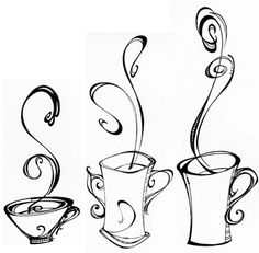 these drawings would be cool with a little color and framed.. if i had a coffee section of my house, these would go there.