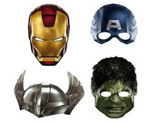 avengers birthday party ideas | avengers paper masks child accessory the avengers is a 2012